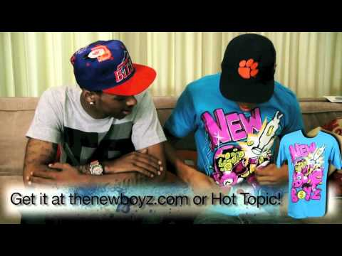The New Boyz Show Off their New T-Shirts Video