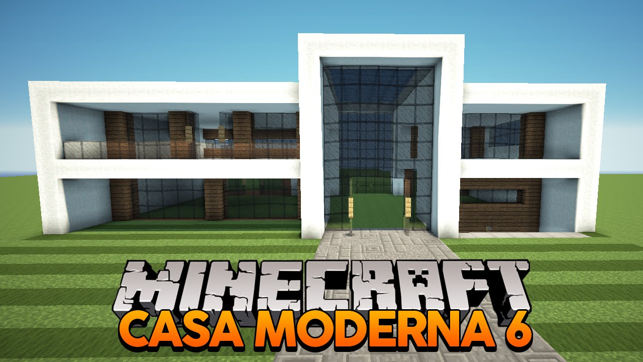 Minecraft construindo uma casa moderna 6 youtube for Tutorial casa moderna grande minecraft
