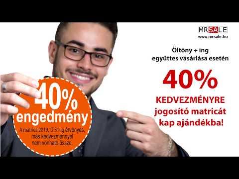 MrSale - Öltöny + ing  együttes vásárlásakor 40% KEDVEZMÉNYRE jogosító matricát kap ajándékba!!