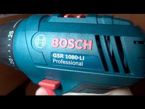 Parafusadeira BOSCH GSR 1080-LI Professional review em Português