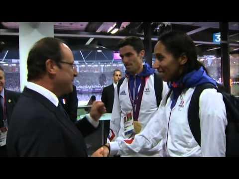 Image video Grosse gaffe d'Hollande avec Assia El Hannouni mal voyante lors des Jeux paralympiques 2012