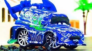 DJ Crash & Repair!  Disney Cars Toys Video for Kids Tuner Cars