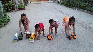 Xe cứu hỏa, Xe bồn, Xe đổ rác, Xe cần cẩu [ Xe đồ chơi ] car toy # Children's toy car