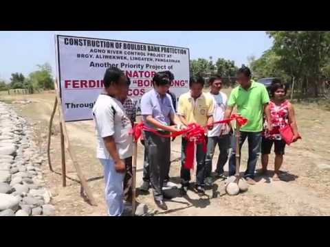 Sen  Bongbong Marcos   Inauguration of Agno River  Brgy Aliwekwek  Lingayen Pangasinan 4 Apr 2014