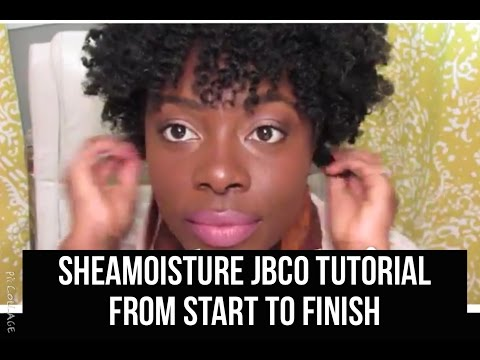 SheaMoisture Jamaican Black Castor Oil Tutorial (start to finish)   - Jenell Stewart