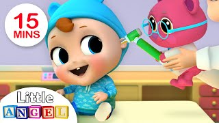 Baby Visits Doctor Teddy | Doctor Song | Nursery Rhymes by Little Angel