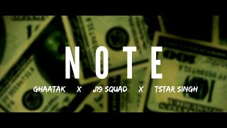 J19 Squad NOTE | PK Nimbark x TStar Singh x GhAatak x Young H | Latest Hindi Rap Song 2017