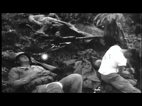 US Army 24th Division soldiers in combat during first 50 days of Korean War HD Stock Footage