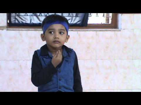 Aarav performing dance on Chandu ke chacha at Birla School