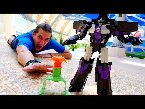 Роботы Трансформеры: Мегатрон или Оптимус? Видео шоу Акватим.