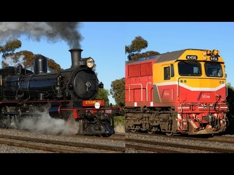 Steam Train vs Diesel Electric