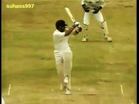 (HQ)Sachin Tendulkar 92 rips apart West Indies - Barbados 1997