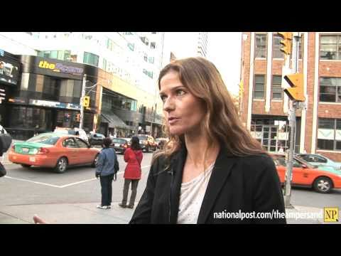 Jill and Jaqueline Hennessy busking during TIFF 2010
