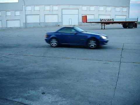 Mercedes Slk 230 k Drift , shift lock tecnique. Spain - YouTube
