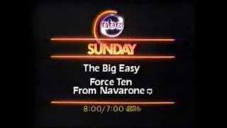 ABC promos The Big Easy and Force Ten from Navarone 1983