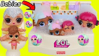 L.O.L. Surprise! Dolls Barbie Babysit Happy Water Places +  Lil Sisters Series 4 Toy Unboxed!