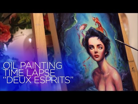 """[SPEED PAINTING] Elizabeth Taylor ethereal oil painting - """"Deux Esprits"""""""