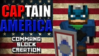 CAPTAIN AMERICA | 1.10 Command Block Creation: Minecraft