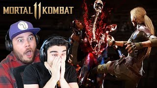 MY BEST FRIEND COULDN'T HANDLE THESE FATALITIES! - Mortal Kombat 11 All Fatalities Reaction (Part 1)