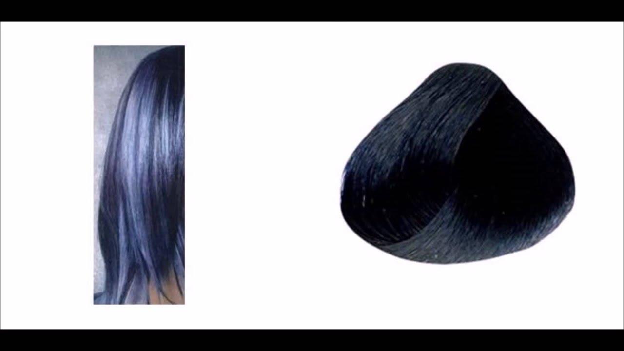 Teñir el pelo color negro azulado con reflejos - YouTube