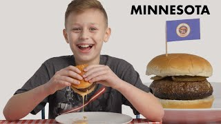 Kids Try Burgers From 10 States