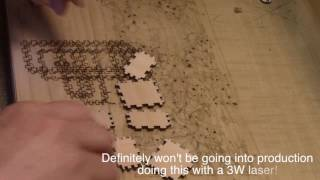 MPCNC Episode 32 - Laser Cutting 2.4 mm Basswood