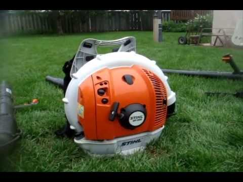 NEW!! 2013 STIHL BR 430 Backpack Leafblower - Full Review, Comparison and Startup