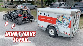 *RACEWEEK PREP* Leroy's First Time Towing... He LOVES His New U-Haul Trailer!