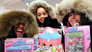Shopping In Harrods London! Winter Fashion Clothing - Mega Toy Hunt Shopkins Surprise Toys