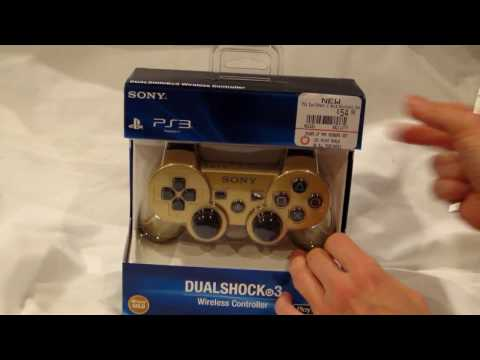 Unboxing Official Metallic Gold Dualshock 3 PS3 Sony Controller - Technology Scoop