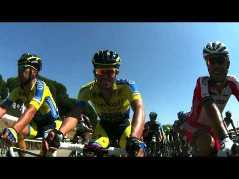 Tinkoff-Saxo onboard video - Alberto Contador having fun in the peloton