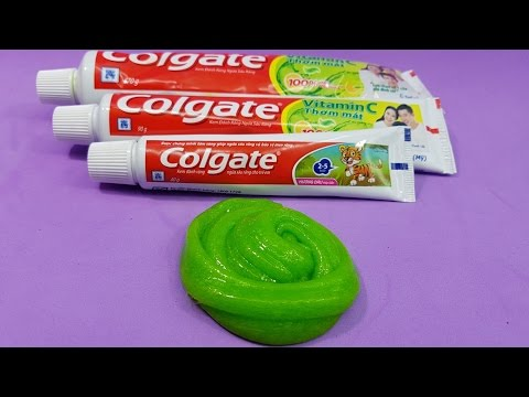 Colgate Toothpaste 1 ingredient Slime, Only Toothpaste , Easy Slime Recipe, No Glue,No Borax...
