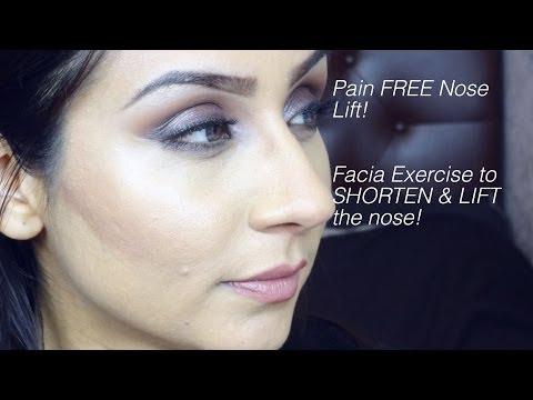 Pain FREE Shorten & lift your nose w facial exercise    Raji Osahn