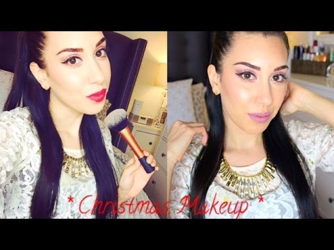 Get Ready With Me: Christmas 2014 Holiday Makeup ❄️ TOO much talking!