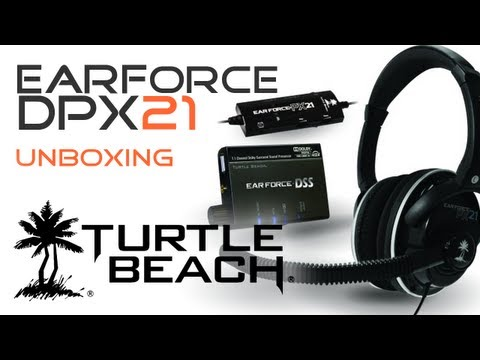 Turtle Beach Ear Force DPX21 Headset - Unboxing DE HD - Dolby 7.1 for PS3