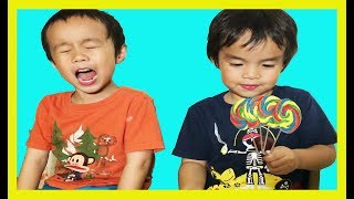Bad Baby with Victoria and Crying for Lollipops Little Babies Learn Colors with Finger Family Song