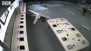 Espectacular robo de una Apple Store por el método del alunizaje...