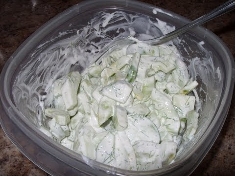 Cucumber in sour cream  - Healthy Recipes - Quick Recipes - How To