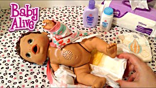 Baby Alive Changing Time Doll Olivia's Feeding and Changing Video