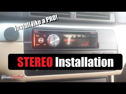 How to wire / Install a Car Stereo / Deck  (aftermarket head unit installation with butt connectors)