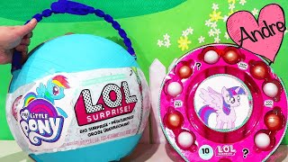 L.O.L. Big Surprise DIY de My Little Pony con muñecas lol y sorpresa de MLP - Juguetes con Andre