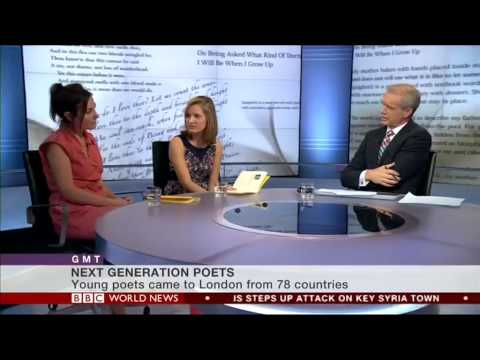 Foyle Young Poet of the Year 2014 live on BBC World News