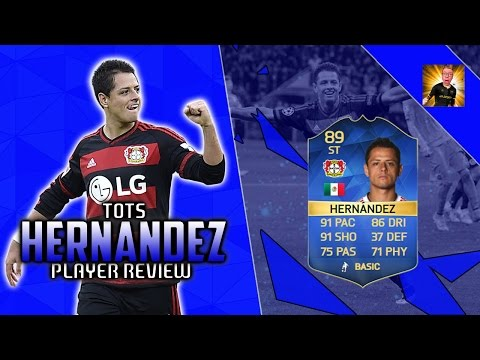 TOTS JAVIER 'CHICHARITO' HERNANDEZ (89) PLAYER REVIEW!   FIFA 16 PLAYER REVIEW