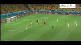David Luiz Freekick *GOOD QUALITY* Brazil Vs Columbia