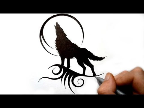 Sitting Wolf Drawings Drawing a Howling Wolf
