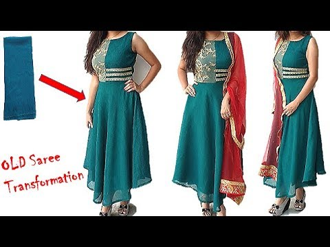 Navaratri special:Best Use Of Old Saree, Convert Old  Saree Into Designer Dress