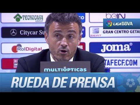 Rueda de prensa de Luis Enrique tras el Getafe CF (0-2) FC Barcelona