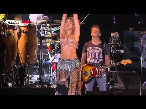 Shakira   Ojos Así and Belly Dance Live Consert
