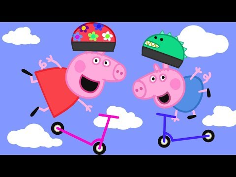 Peppa Pig English Episodes in 4K | Scooters! | 1 Hour | Cartoons for Children
