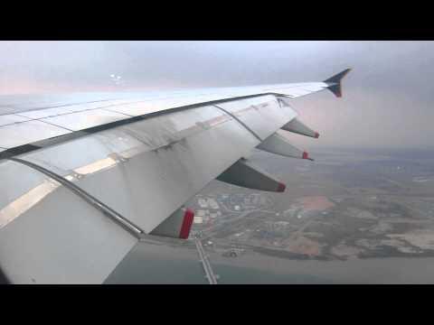 Singapore Airlines A380-841 *9V-SKE Landing Singapore Changi [9/2/2014]